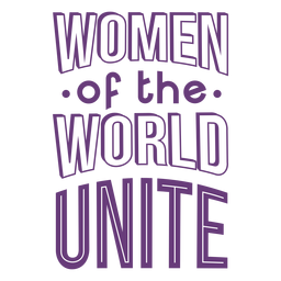 Womens day lettering unite flat