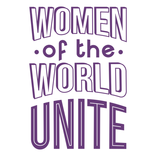 Womens day lettering unite flat Transparent PNG