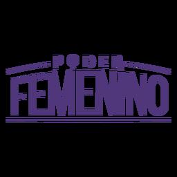 Letras del poder femenino español del día de la mujer