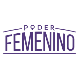 Womens day spanish feminine power lettering