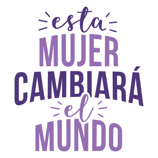 Womens day spanish woman change world lettering