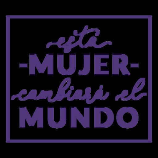 Día de la mujer mujer española cambiar letras Transparent PNG