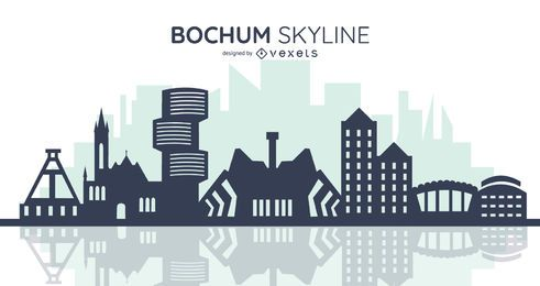 silueta del horizonte de bochum