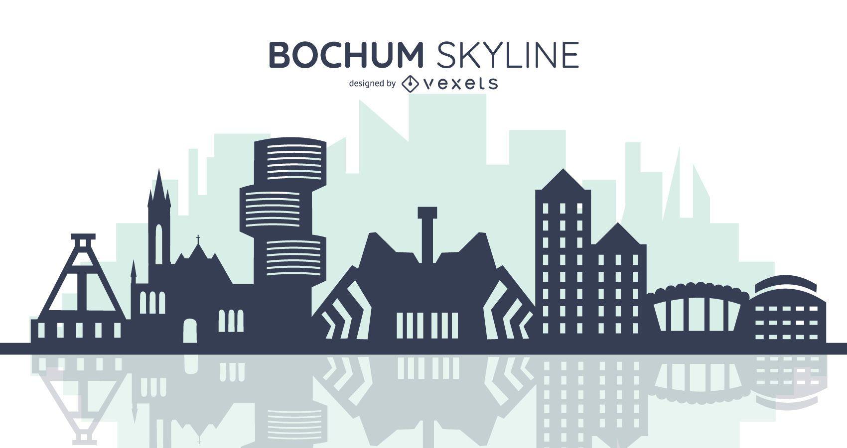 bochum skyline silhouette