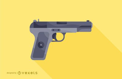 firearm pistol illustration