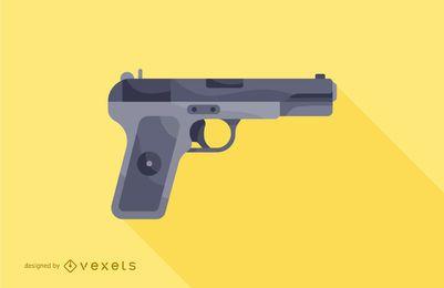 ilustração de pistola de arma de fogo