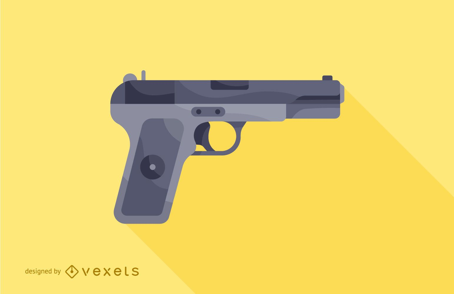 ilustración de pistola de arma de fuego