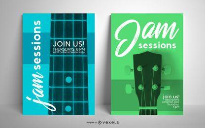 Conjunto de plantillas de póster de sesiones improvisadas