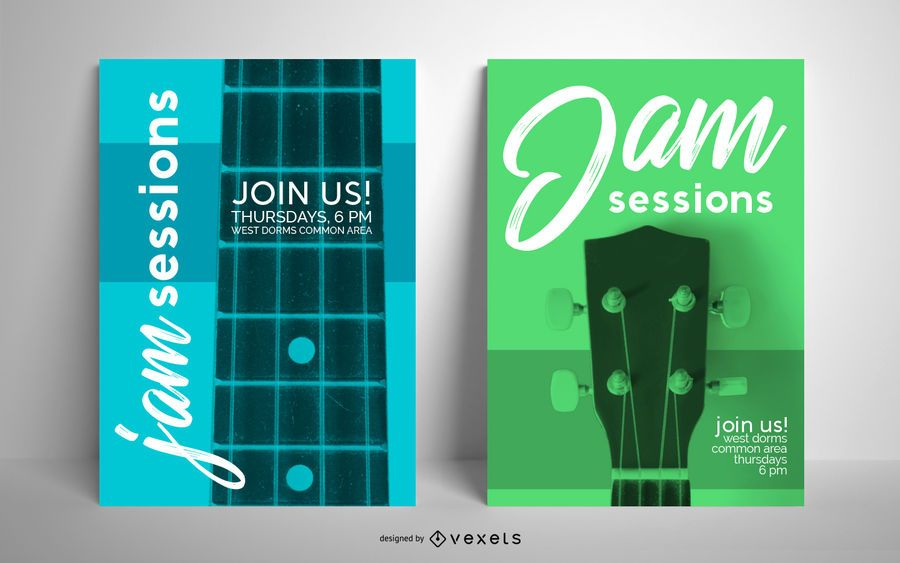 Jam sessions poster template set