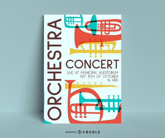 orchestra concert poster template