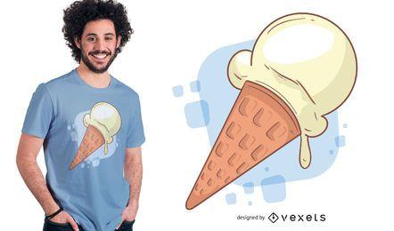 Design de t-shirt de sorvete Vainilla
