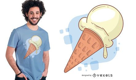 Vainilla Ice Cream T-shirt Design