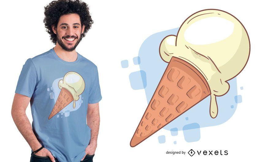 Vainilla Ice Cream T-shirt Design