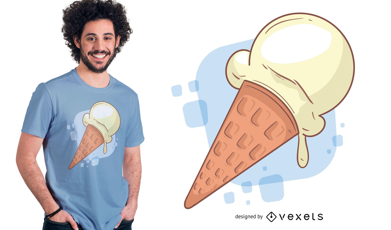 Design de camisetas Vainilla Sorvete