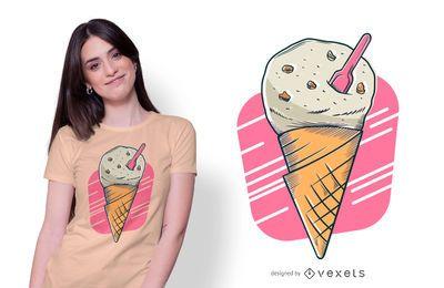 Design de t-shirt de sorvete de biscoito
