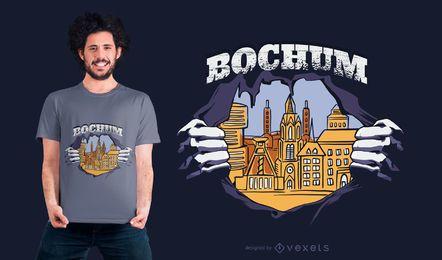 Projeto do t-shirt da cidade de Bochum