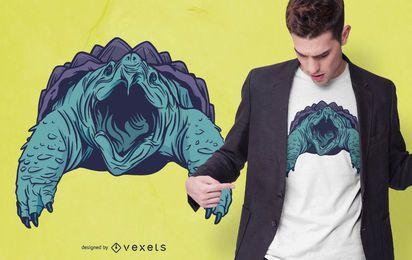Design de t-shirt de tartaruga de agarrar jacaré