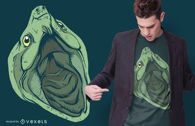 Diseño de camiseta Snapping Turtle Head
