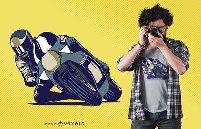 Diseño de camiseta de MotoGP Rider