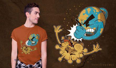 Design de t-shirt de quebra de coronavírus
