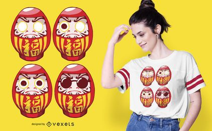 Daruma Sunglasses T-shirt Design