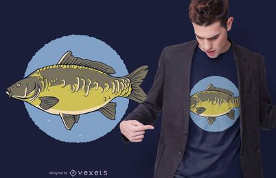 Diseño de camiseta Mirror Carp