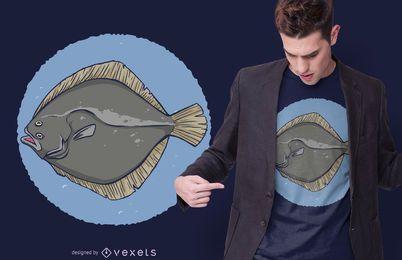 Design de t-shirt de peixe solha