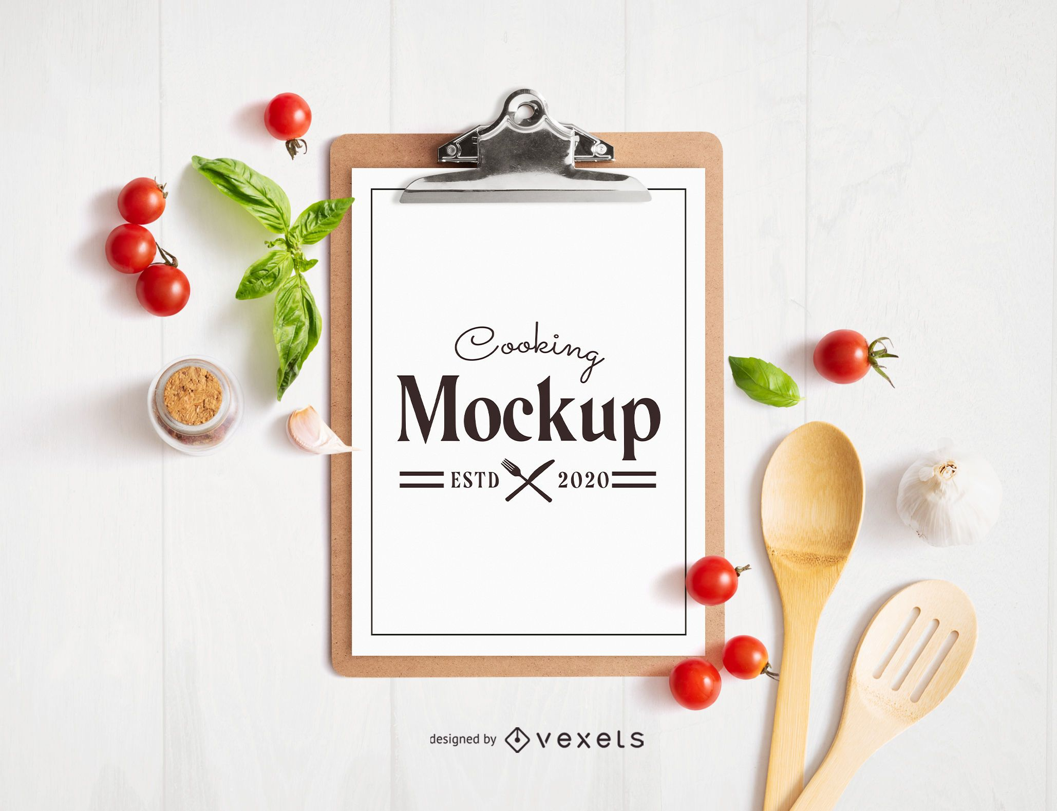 Cooking Elements Clipboard Mockup