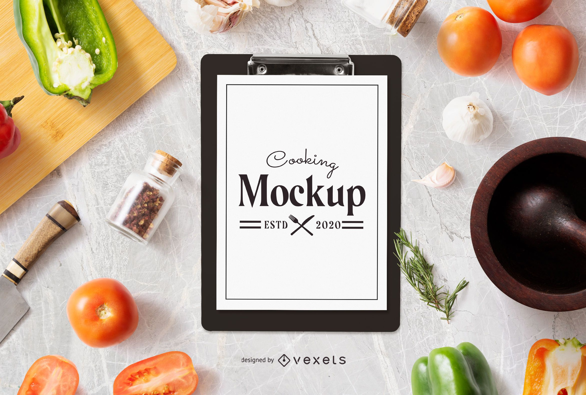 Cooking Composition Clipboard Mockup