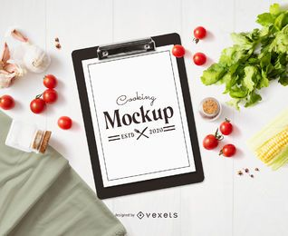 Inclined Clipboard Mockup Composition