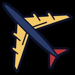 Icono de avión trazo colorido