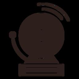 Campana de alarma silueta plana