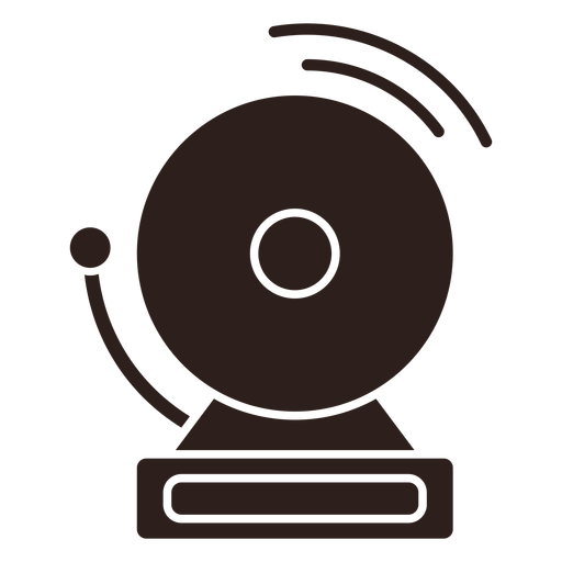 Alarm bell flat silhouette Transparent PNG