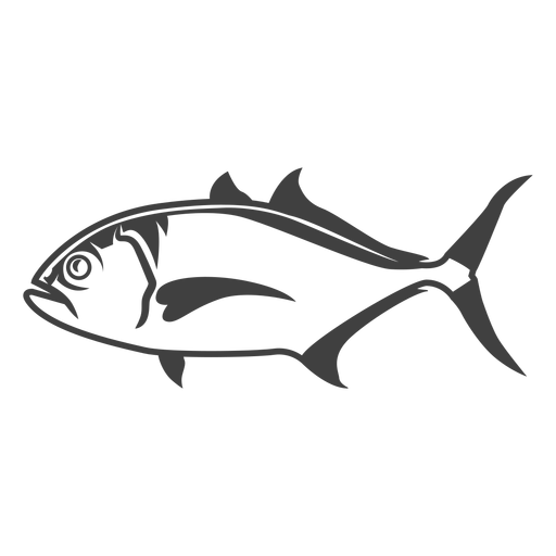 Ilustração do peixe Amberjack Transparent PNG