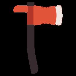 Icono colorido hacha hacha
