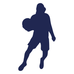 Basketball dribble hood silhouette