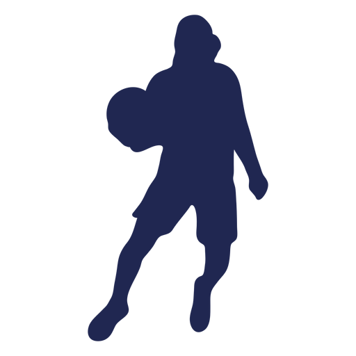 Basketball dribble hood silhouette Transparent PNG