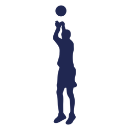 Basketball jump shot ball silhouette