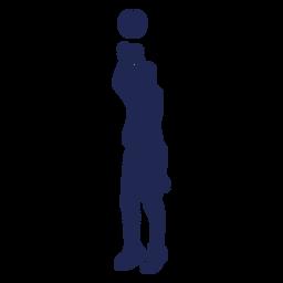 Basketball Sprungschuss Ball Silhouette