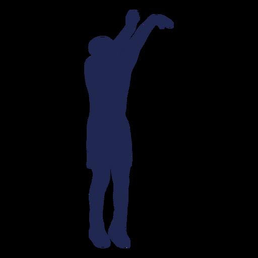 Basketball jump shot silhouette
