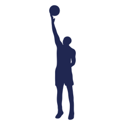 Basketball layup ball silhouette