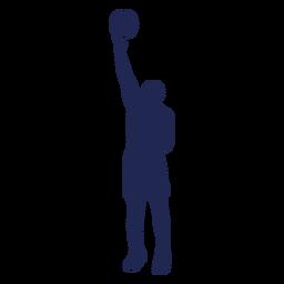 Silueta de pelota de baloncesto