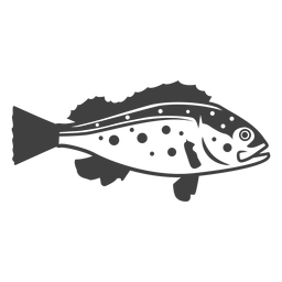 Ilustração de peixe baixo