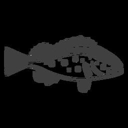 Ilustración de pescado bajo