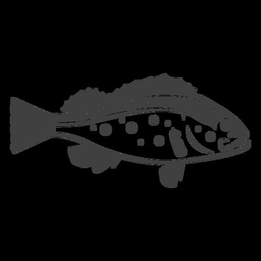 Ilustração de peixe baixo Transparent PNG