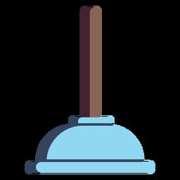 Icono colorido del émbolo de baño