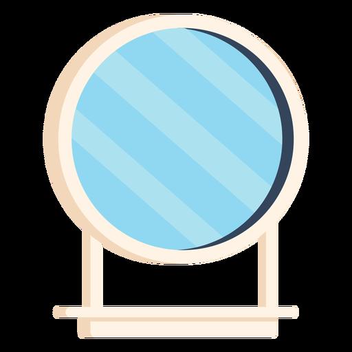 Bathroom mirror colorful icon