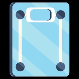 Báscula de baño colorido icono