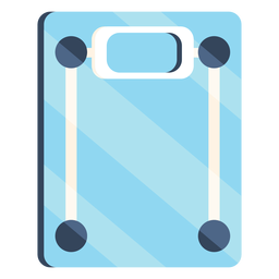 Bathroom scales colorful icon