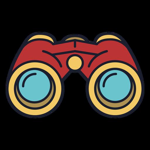 Trazo de icono colorido binoculares